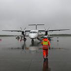 雨の釧路空港