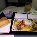 機内の朝食